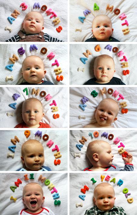 赤ちゃんの成長を可愛く残す写真アイデア集