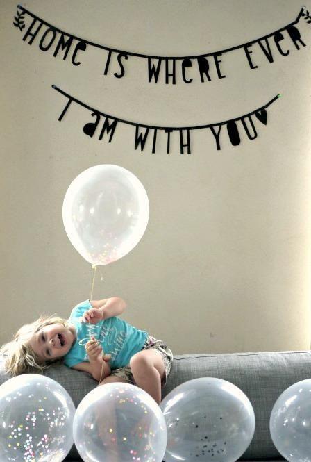 1歳の誕生日に向けて準備始動。
