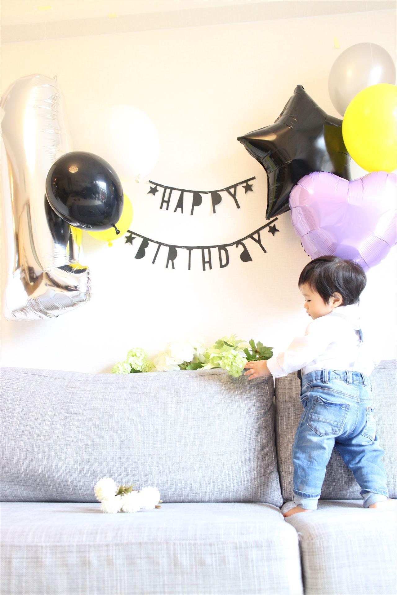 1才誕生パーティーのデコレーション♡男の子向けに海外風な系飾り付け!