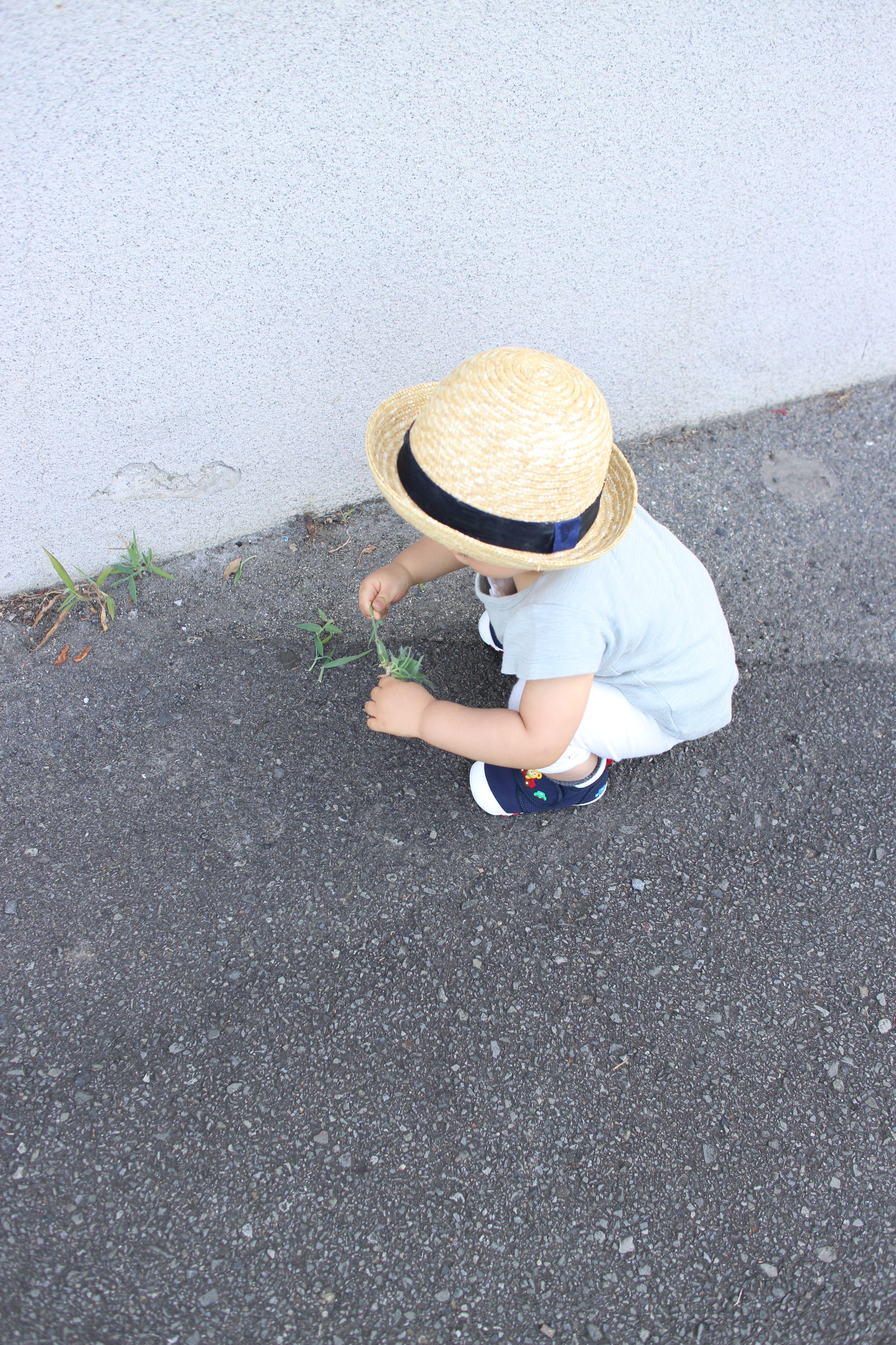 1才3ヶ月:はじめの一歩と靴お外歩き。