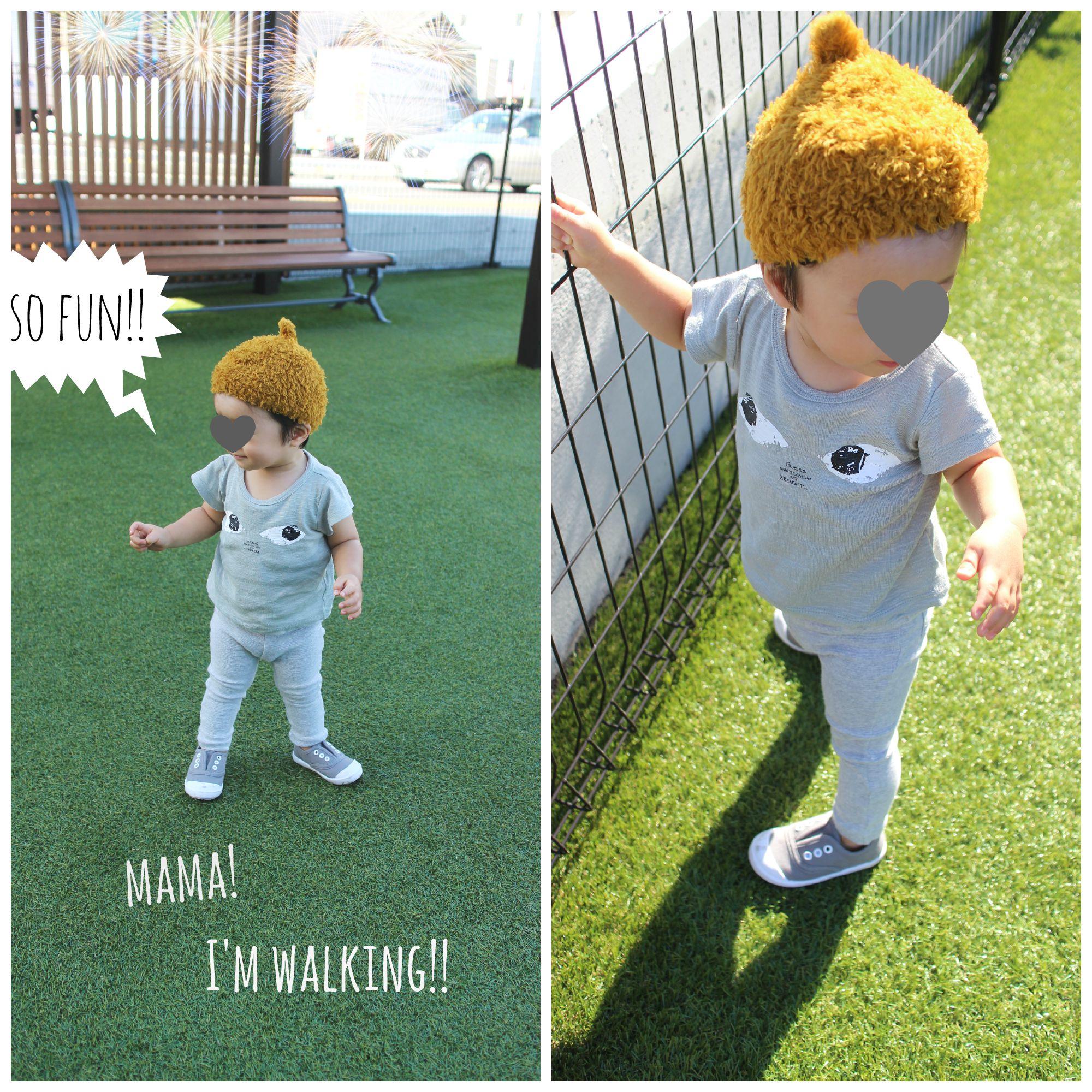 1才4ヶ月:ヨチヨチ歩き出しました!!