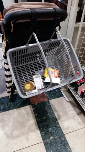 エアバギーでスーパーお買い物カゴどうしてる?
