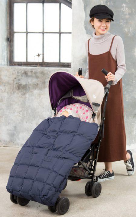 ベビーカーにフットマフは冬の最強コンビ。ママのお楽しみが増える説。