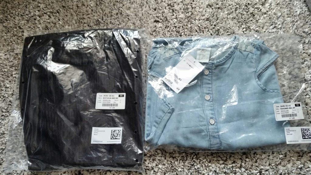 H&Mのオンラインストアでベビー服注文してみた!まさか翌日届くとは思わなかった。