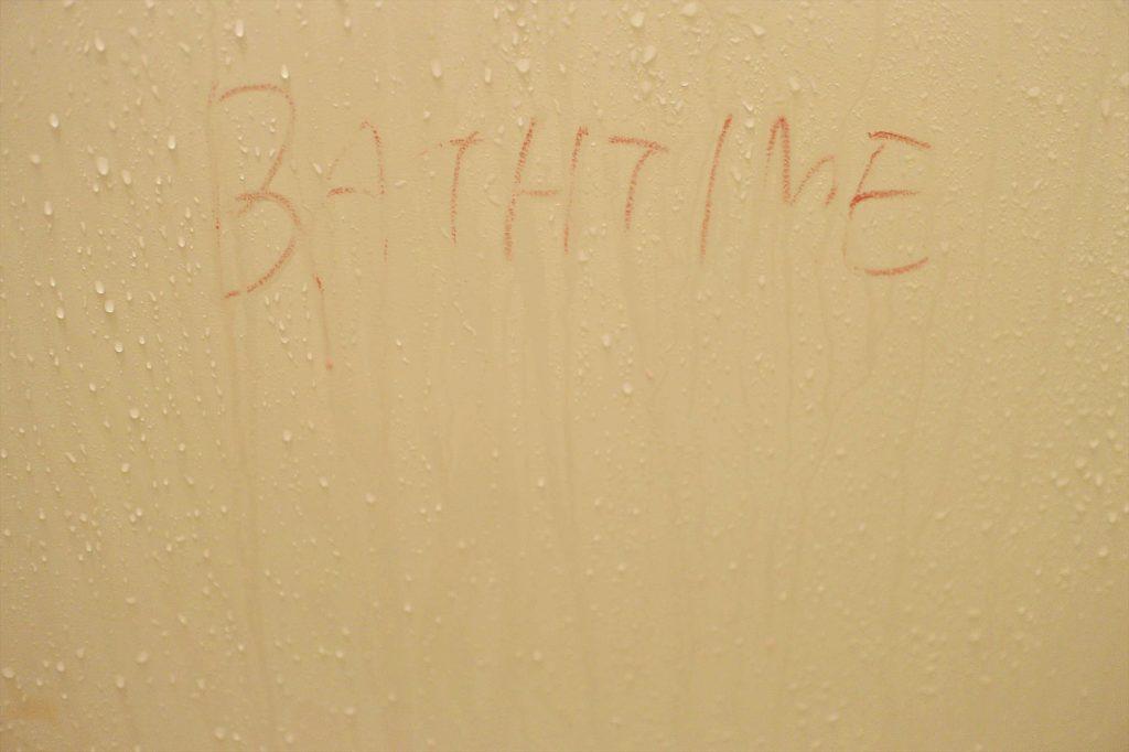 お風呂でお絵かき