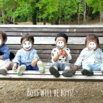 1才男の子4組で公園ピクニックしてきた。