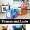 乗れるトーマスをダンボールで作ってみた。2才児と楽しむ工作アイデア。