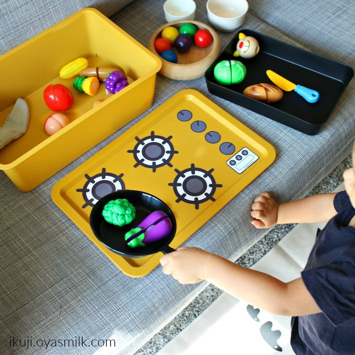 Printable kitchen stove for a pretend play