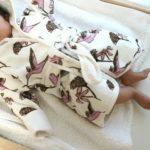 赤ちゃんのバスローブ姿に胸キュン。MILKBARNのバスローブ着せてみた。