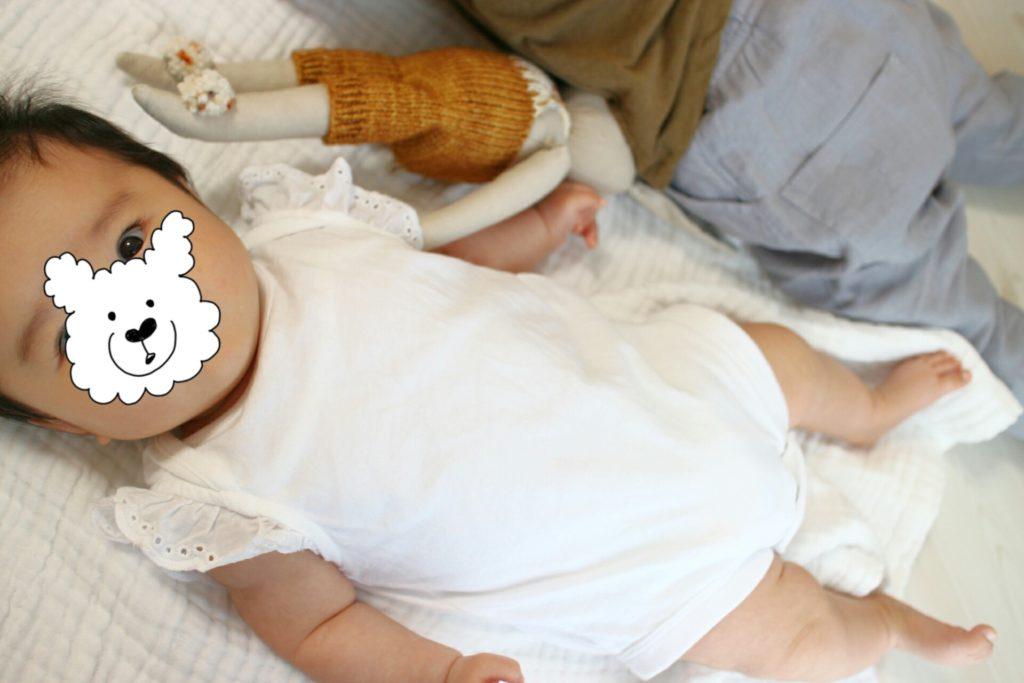 生後3ヶ月:おしゃべり赤ちゃんと子育て支援センター。