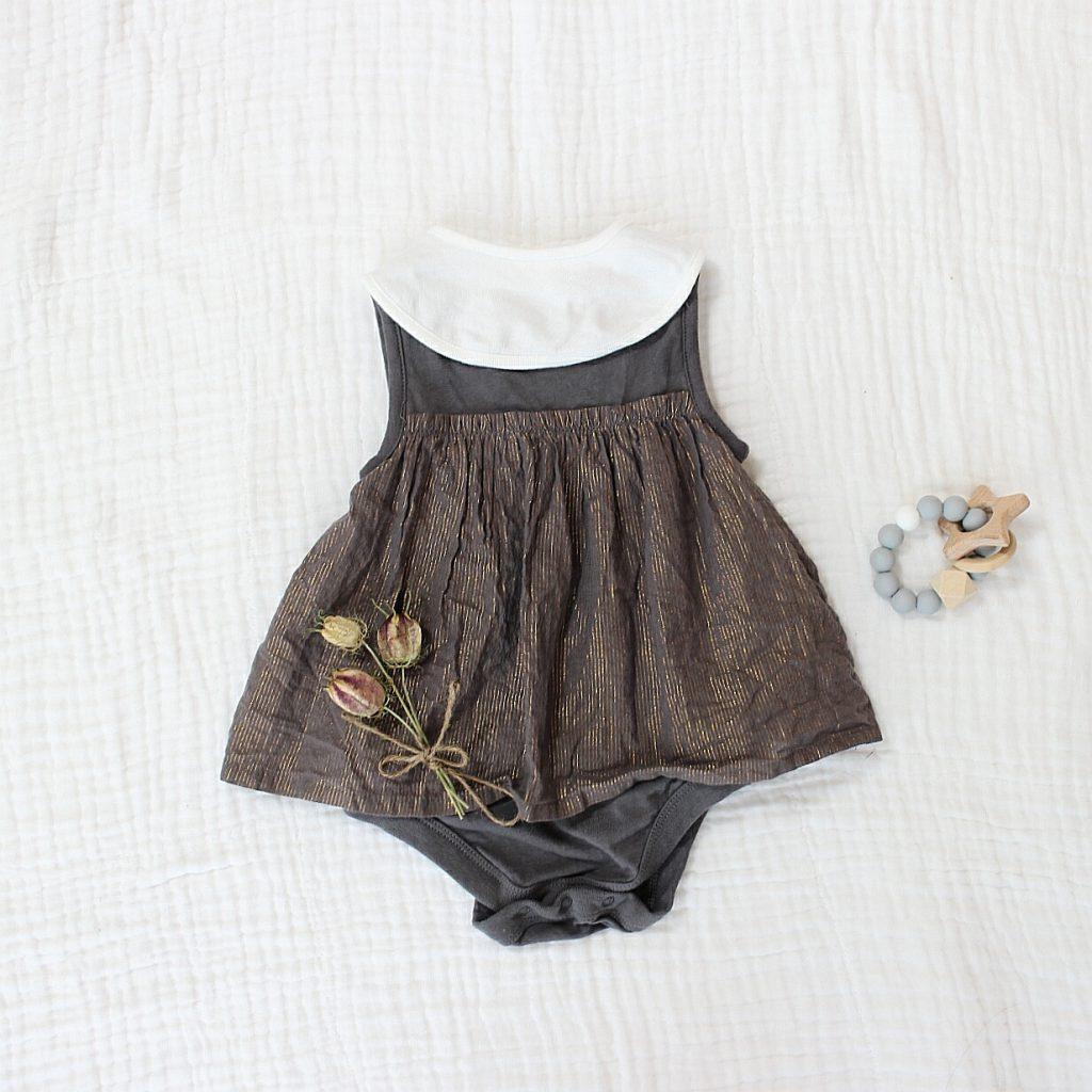 BabyGAPセール品で女の子ベビー服コーディネート。