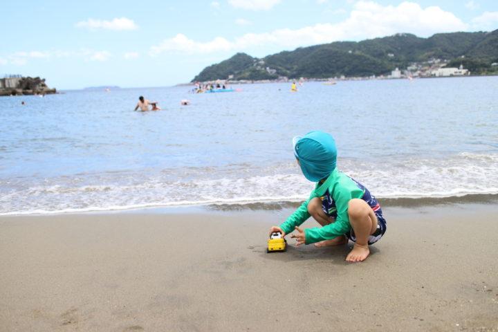 子連れ熱海旅行記。1日目、海水浴日和。