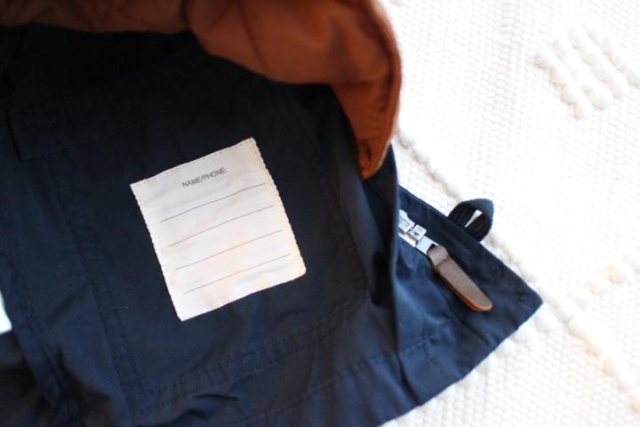 H&Mキッズ服の名前欄