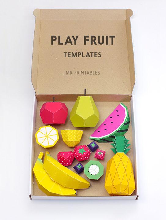 果物のペーパークラフト