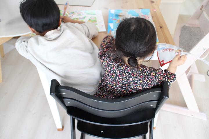 二人育児のデスク学習がカオスになる件。