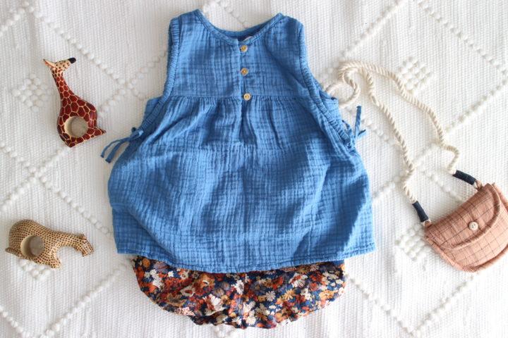 ZARAベビー購入服の春夏コーデ。