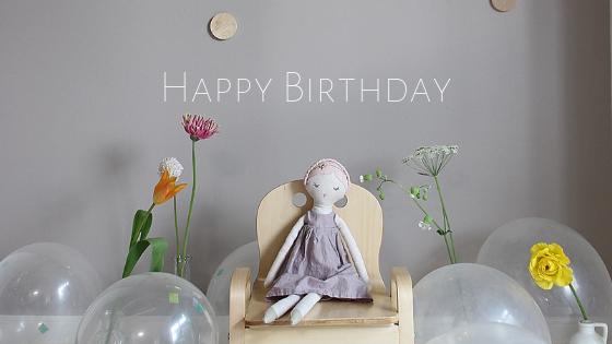 2才になりました!自宅お誕生日フォト飾り付け。