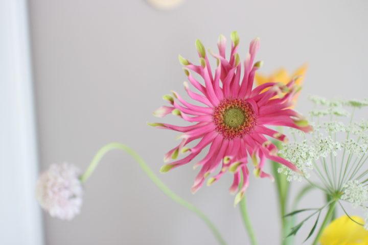 2才誕生日飾りつけのお花