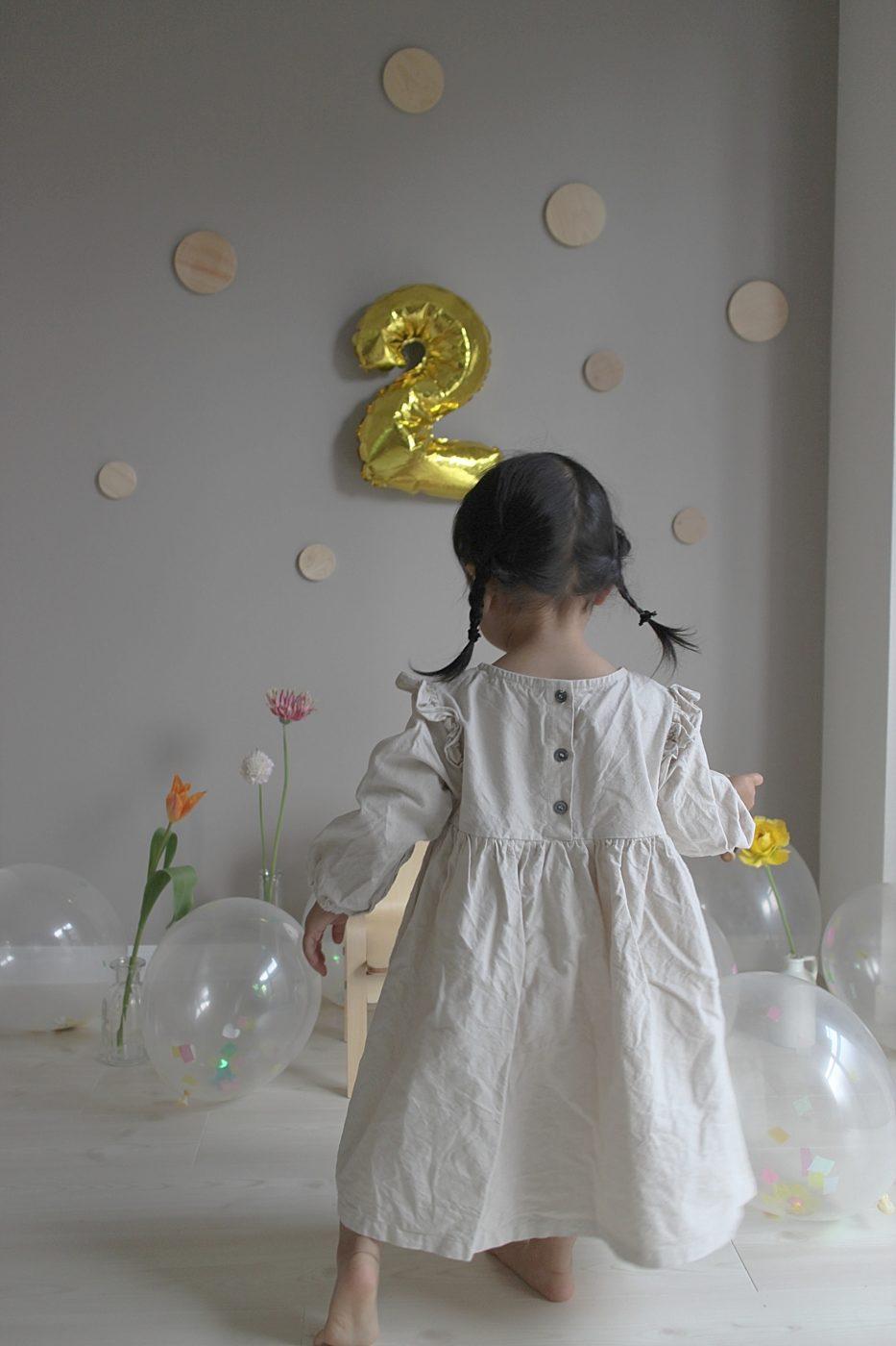 シンプルなお誕生日ドレス
