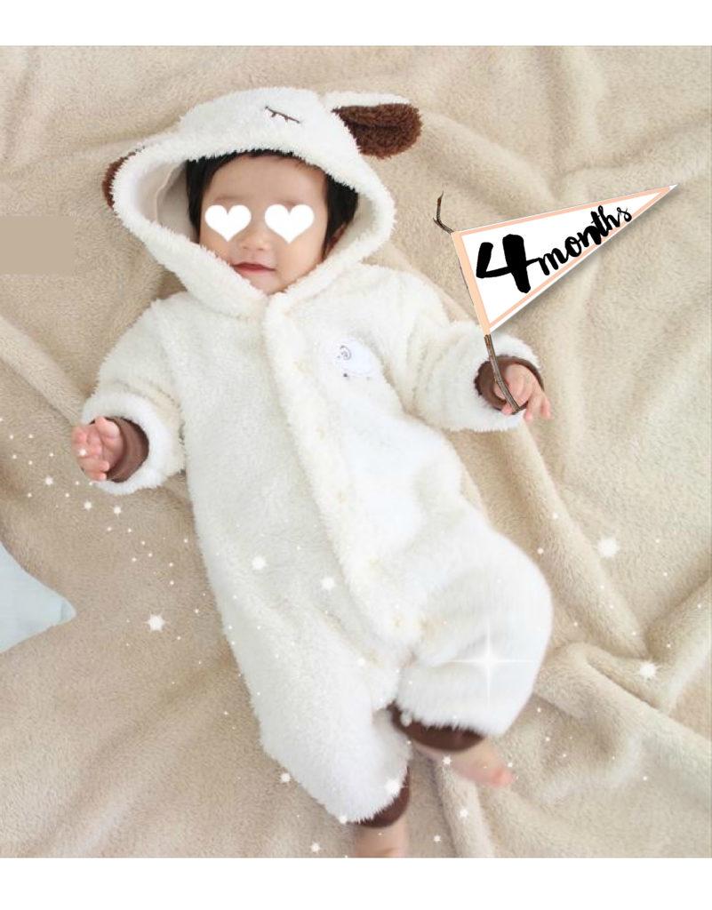 赤ちゃん月齢ステッカー使用例