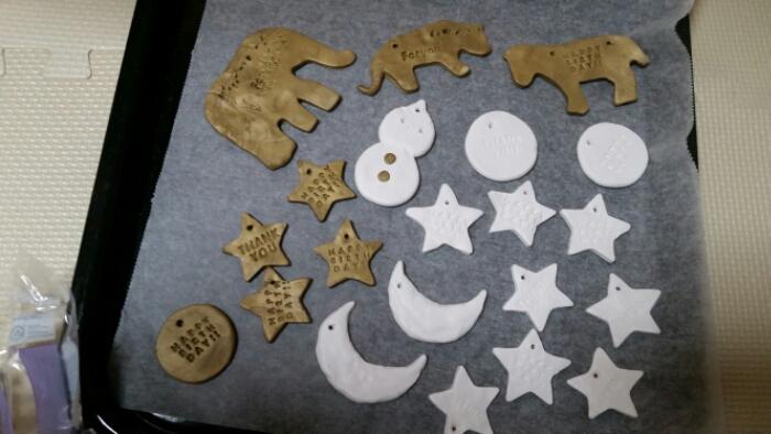オーブン粘土で子どもとクリスマスオーナメント作り!!