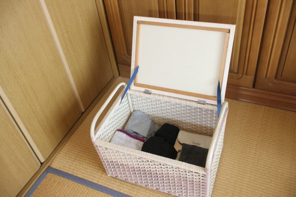 入院準備品はバッグやキャリーではなく「カゴボックス」で行く話。