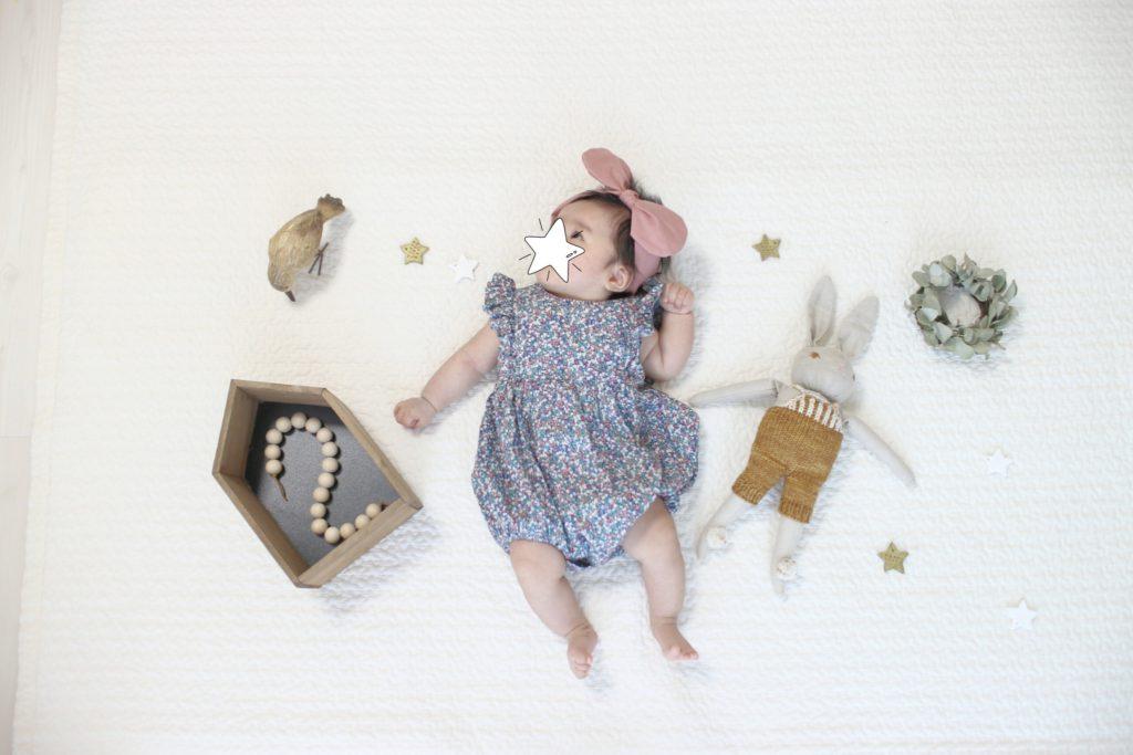 娘生後2ヶ月半の成長記録。