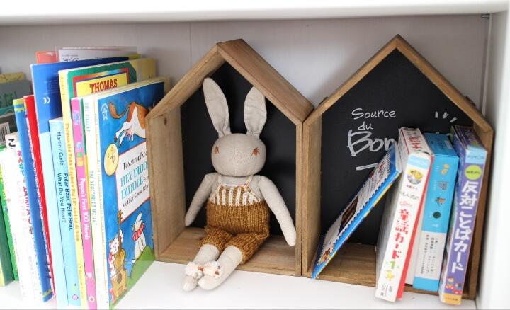 子どもが絵本を片付けやすい本棚にする工夫、その後完成。