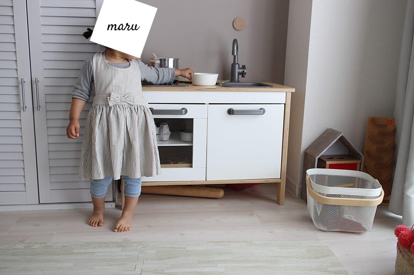 台所育児エプロン