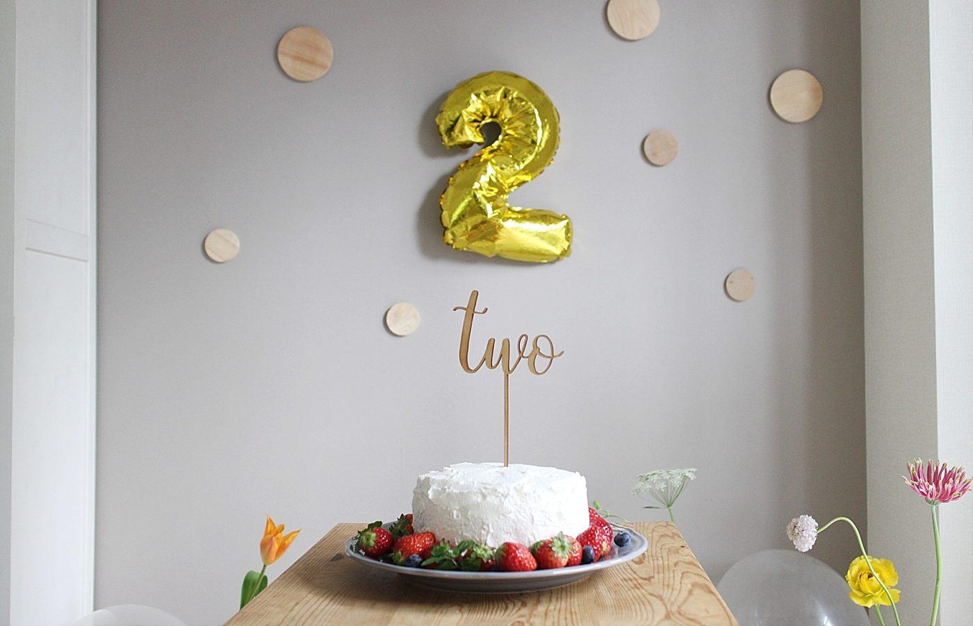 2才になりました!自宅パーティ、誕生日ケーキ編。