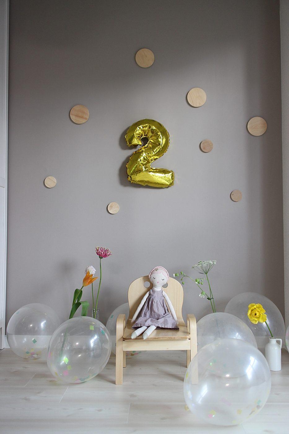 自宅誕生日フォト写真の飾りつけ