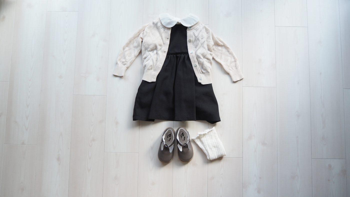 幼稚園の面接の女の子服装コーデ(ありあわせ)