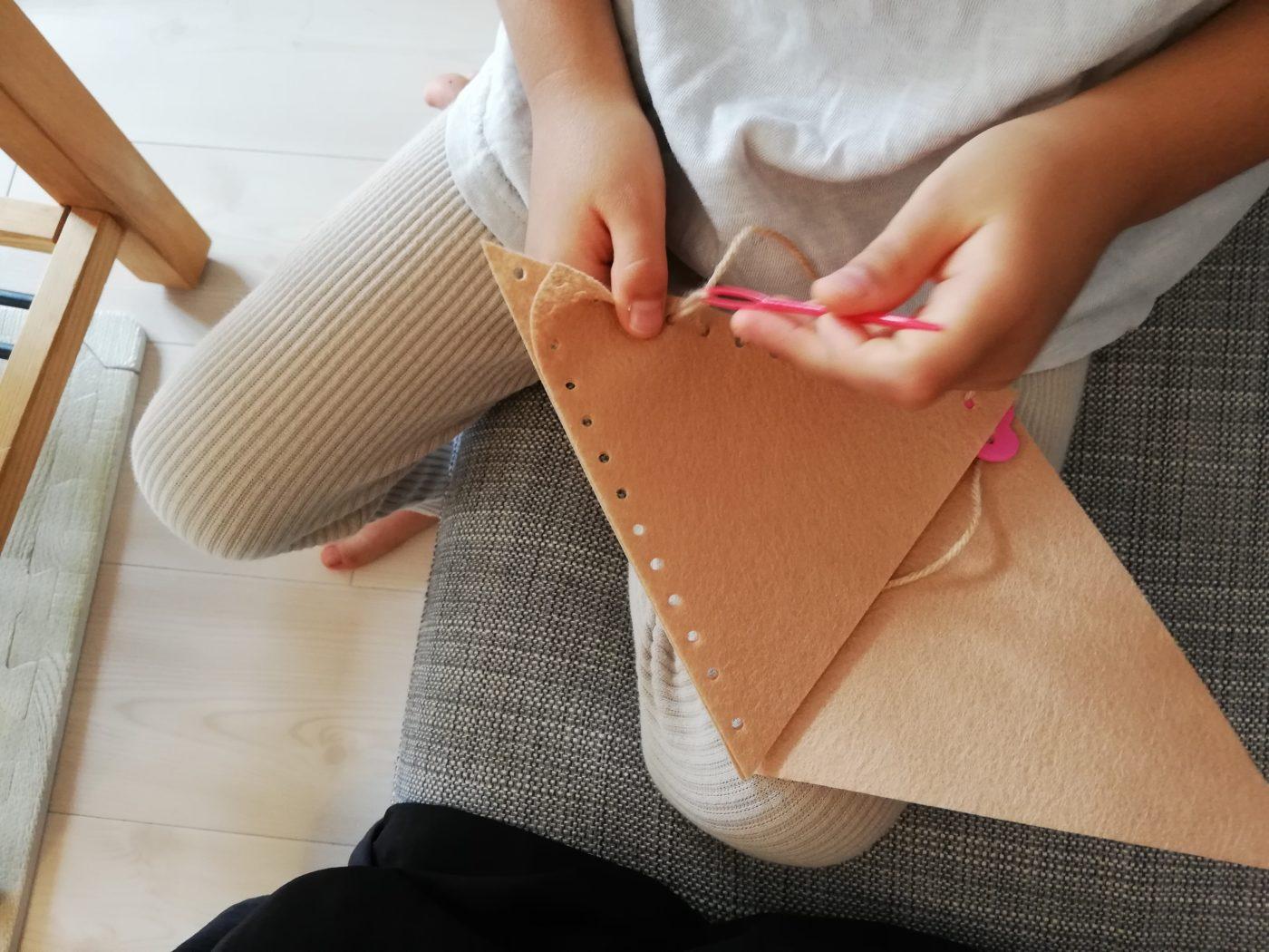 5才の裁縫