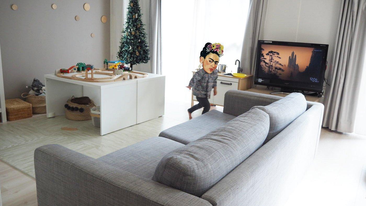 IKEAアイテムでリビングのキッズスペース大改造。