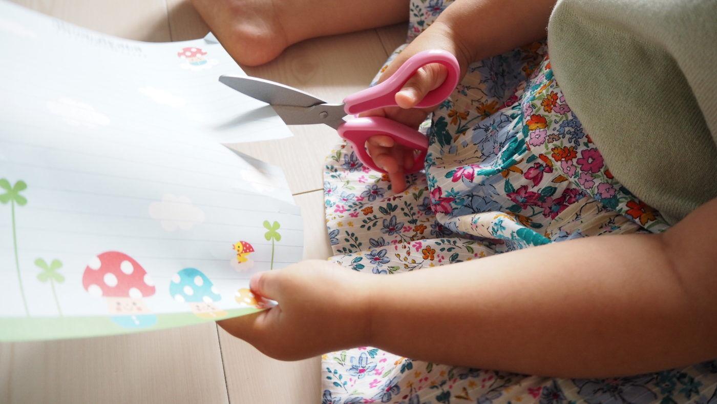 3才、導入ハサミから幼児ハサミへ買い替え。