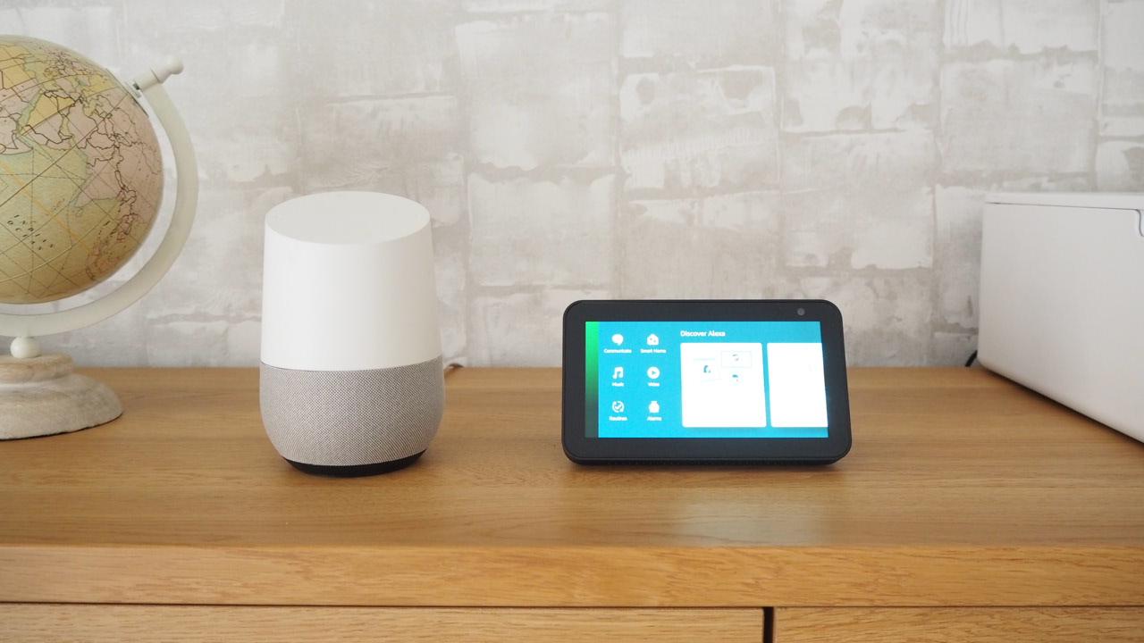Google HomeとAmazon Echoshow 5