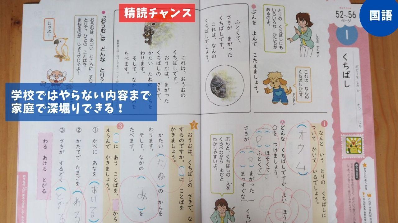 小学ポピー1年の国語教材内容